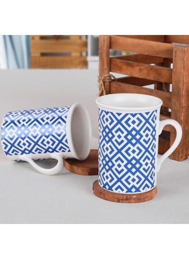 Keramika Blue Kupa 10 Cm 2 Adet - 17925 Mavi